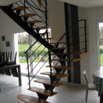 Escalier acier bois 7