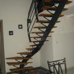 Escalier acier bois 6