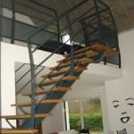 Escaliers acier bois 3