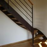 Escalier acier bois 14