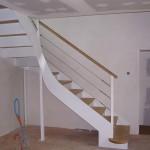 Escalier acier bois 12