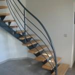 Escalier sur mesure Acier et bois 18