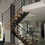 Escalier acier bois 5