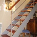Escalier acier bois 9