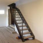 Escalier acier bois 10