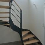 Escalier acier bois 19
